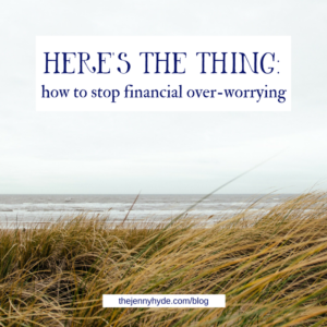 how to stop financial overworrying