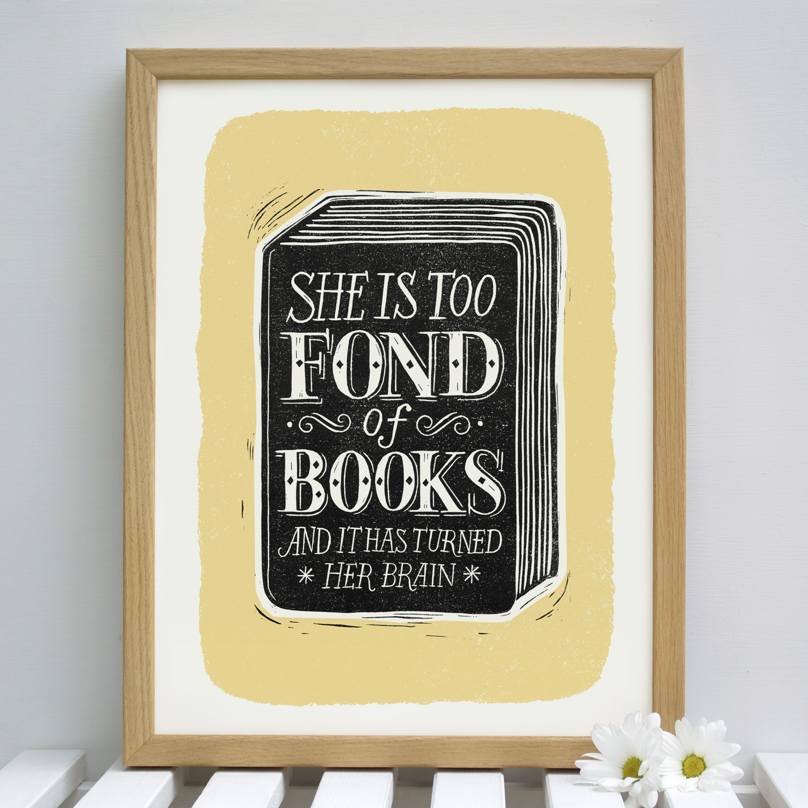 fond.of.books.yellow.framed - alexsnowdon@hotmail.com